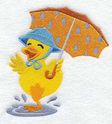 baby-duck-in-rain-puddle-with-umbrella